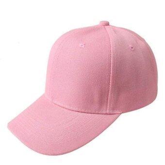 หมวกเบสบอลสีทึบสวมหมวกหมวกสามารถปรับช่องสีชมพู
