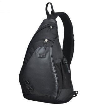 สบายกระเป๋าผู้ชายกระเป๋าสะพายไหล่ตัด L กลางแจ้งขนาดสีดำ-ระหว่างประเทศ