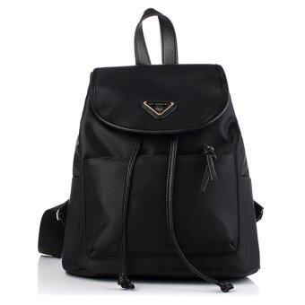 Little Bag กระเป๋าเป้สะพายหลัง กระเป๋าเป้เกาหลี กระเป๋าสะพายหลังผู้หญิง backpack women รุ่น LP-102 (สีดำ)