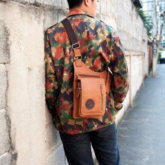 SAPA กระเป๋าสะพายข้างหนังแท้ สำหรับเก็บปืนพกสั้น เหมาะสำหรับผู้ชาย SB03-2