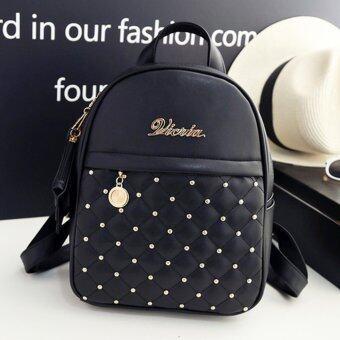 Little Bag กระเป๋าเป้สะพายหลัง กระเป๋าเป้เกาหลี กระเป๋าสะพายหลังผู้หญิง backpack women รุ่น LP-116 (สีดำ)