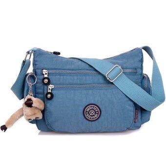 RICHCOCO กระเป๋าสะพาย เนื้อผ้าไนลอนกันน้ำ Waterproof Nylon Crossbody Handbag (Blue Gray)
