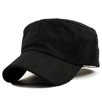คลาสสิกสไตล์วินเทจกองทัพทหารราบนักเรียนหมวกผ้าหมวกปรับได้สีดำ