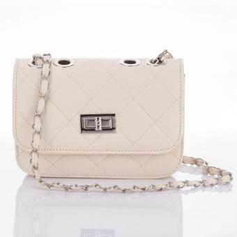 Premium Bag กระเป๋าแฟชั่น กระเป๋าสะพายข้าง รุ่น PB-004 (สีขาว)