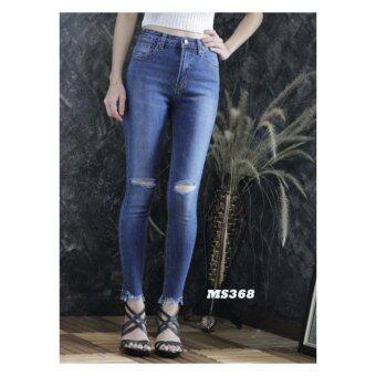 platinum fashion กางเกงยีนส์ขายาว สินค้านำเข้า เนื้อผ้า สีสวย รุ่นPMS368