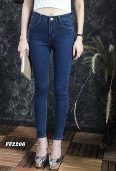 Platinum Fashion กางเกงยีนส์ขายาวเอวสูง ทรงสกินนี่ รุ่นFF2206