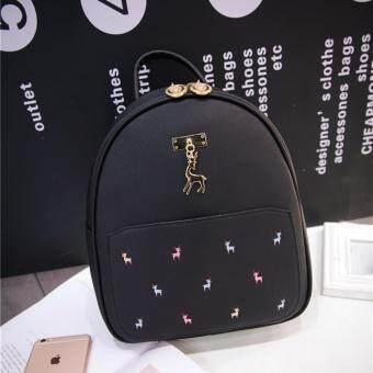 Little Bag กระเป๋าเป้เกาหลี กระเป๋าสะพายหลังผู้หญิง กระเป๋าแฟชั่น backpack women รุ่น LP-150(สีดำ)