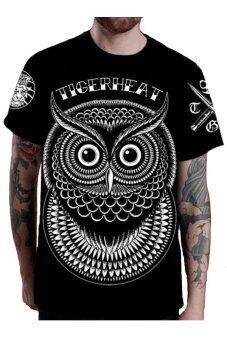 Tigerheat เสื้อยืดคอกลม ลาย Owl (Black)