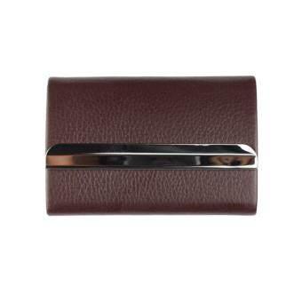 Marino กระเป๋านามบัตร กล่องแม่เหล็กใส่นามบัตร รุ่น H002 - D.Brown