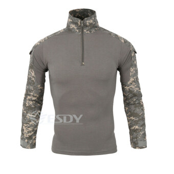 Harga Camouflage Military Uniform Combat Shirt Cargo Multicam Airsoft Paintball Militar Tactical Clothing