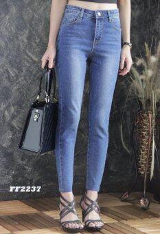 Platinum Fashion กางเกงยีนส์ขายาวเอวสูง ทรงสกินนี่ รุ่นFF2237