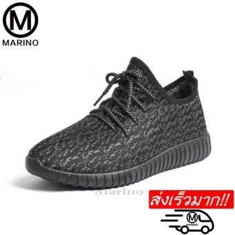 Marino รองเท้า รองเท้าผ้าใบผู้หญิง รุ่น A009 - สีดำ