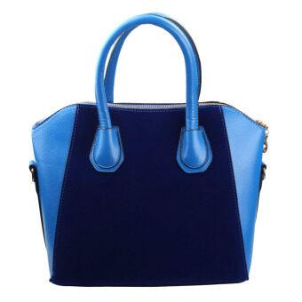 ใหม่กระเป๋าถือผู้หญิงกระเป๋าสะพายหนัง pu สีตายเงินกระเป๋าสีน้ำเงิน-ระหว่างประเทศ
