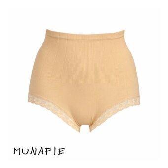 MUNAFIE JAPAN กางเกงในกระชับสัดส่วน กางเกงในเก็บพุง (สีเนื้อ) 1pcs
