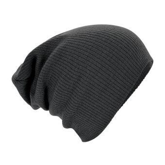 เพศชายฮิพฮอพบีนนี่ถักผ้าขนสัตว์อุ่นฤดูหนาวสกีหมวกครอบศีรษะอิดโรยสีเทา
