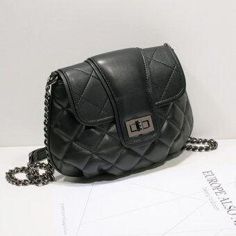 AXIXI กระเป๋าสะพายแฟชั่น รุ่น Black Quilt สีดำ