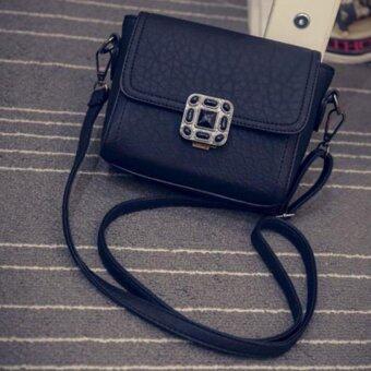 กระเป๋าถือผู้หญิงกระเป๋าสะพายหนัง Coconiey ตายกระเป๋าสะพายไหล่สารสีดำ-ระหว่างประเทศ