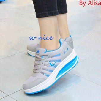 Alisa Shose รองเท้าผ้าใบแฟชั่น Comfort รุ่น A706 Grey Blue