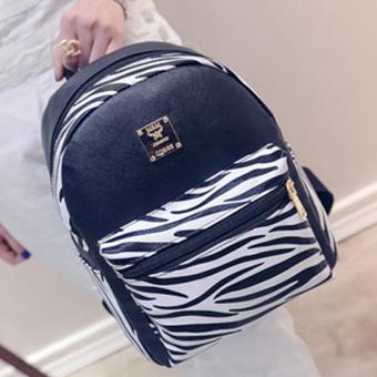 Little Bag กระเป๋าเป้สะพายหลัง กระเป๋าเป้เกาหลี กระเป๋าสะพายหลังผู้หญิง backpack women รุ่น LP-088 (สีดำ/สีขาว)