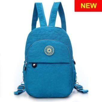 RICHCOCO กระเป๋าเป้สะพายหลัง Nylon leisure Backpack (K01-new Blue)