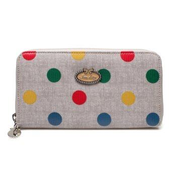 Harga Janelily wallet zip around JW014-A38 multicolor in gray