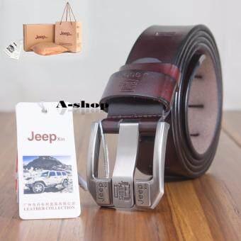 A-shop เข็มขัดผู้ชาย เข็มขัดหนังแท้ Jeep-QB-T1618-Xin2-125Coffee
