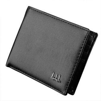 กระเป๋าสตางค์ของผู้ชายหนังสังเคราะห์กระเป๋าสตางค์/กระเป๋าถือบัตรประชาชนบัตรพลาสติก 2 สี