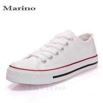 Marino รองเท้าผ้าใบผู้ชาย รุ่น A002 - สีขาว