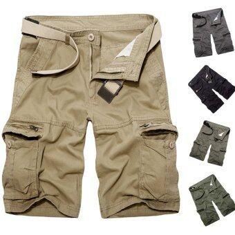 กางเกงคาร์โก้ชาย PODOM กระเป๋ากางเกงทหารลำลองกางเกงทำงานต่อสู้กองทัพสีเขียว-ระหว่างประเทศ