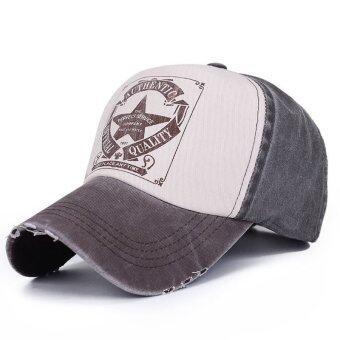 หมวกหมวกเบสบอลแบบปรับได้หน้ากากหมวกหญิงชายไร้สายโค้งเพศ (สีน้ำตาล)