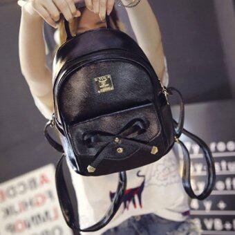 B'nana Beauty กระเป๋าเป้สะพายหลัง backpack women รุ่น BBB-03 (สีดำโบหน้า)