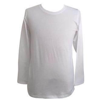 Chahom เสื้อยืดคอกลม แขนยาว สีขาว