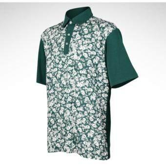 EXCEED GOLF MEN SHIRT เสื้อกอล์ฟสำหรับสุภาพบุรุษ PGM ลายกระโหลกสีเขียว YF002 GREEN COLOUR