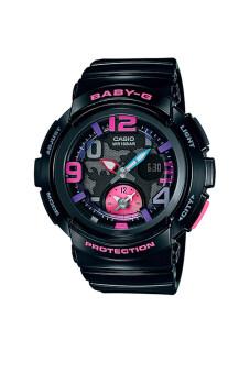 Casio Baby-G นาฬิกาข้อมือผู้หญิง สีดำ สายเรซิ่น รุ่น BGA-190-1B
