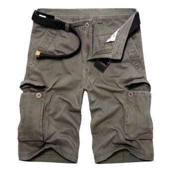 กางเกงทำงานบุรุษกางเกงลำลอง PODOM สั้นสีเทาอบอุ่น-ระหว่างประเทศ