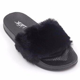 Air Move รองเท้าแตะขนเฟอร์ รุ่น FUR101 (Black)