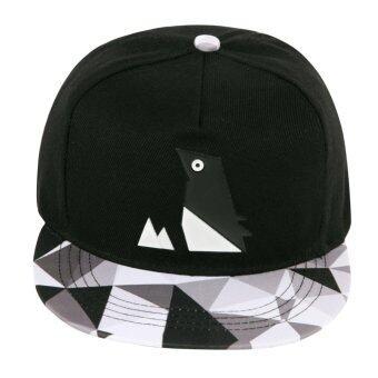 เพศ Snapback ปรับได้สะโพกป็อปหมวกเบสบอล (สีดำ)
