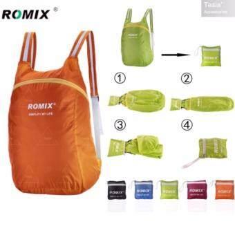 tesia ROMIX กระเป๋าเป้กันน้ำพับได้ Waterproof Foldable BackpackOrange
