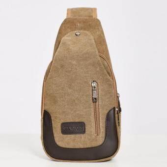 Stitch เกาหลีกระเป๋าสะพายผ้าใบสุขา (สีเบจ)