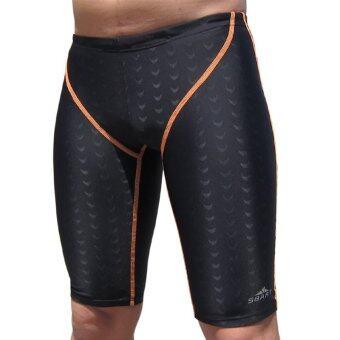 ชายกางเกงว่ายน้ำสำหรับดำน้ำตื้นว่ายน้ำเล่นวินเซิร์ฟบีชแอนด์สปาชายกางเกงว่ายน้ำ (ส้ม)