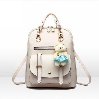 B'nana Beauty กระเป๋าเป้สะพายหลัง กระเป๋าเป้เกาหลี กระเป๋าสะพายหลังผู้หญิง backpack women รุ่น GB-05 (สีขาวครีม)