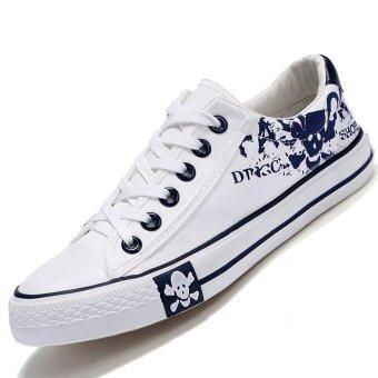 PINSV รองเท้าผ้าใบรองเท้าผ้าใบเล่นคนเล่นสเก็ต (ขาว)