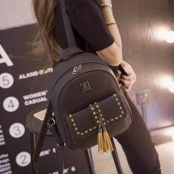 B'nana Beauty กระเป๋าเป้สะพายหลัง กระเป๋าเป้เกาหลี กระเป๋าสะพายหลังผู้หญิง backpack women รุ่น GB-27 (สีดำ)
