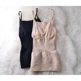 MUNAFIE Slimming Vest (สีดำ) เสื้อกระชับสัดส่วนเก็บส่วนเกิน