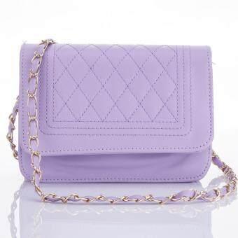 Premium Bag กระเป๋าแฟชั่น กระเป๋าสะพายข้าง รุ่น PB-002 (สีม่วง)