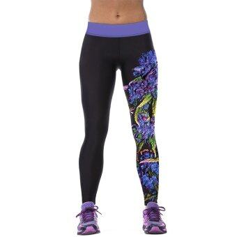 การออกกำลังกายแบบสตรีโยคะ...ห้องออกกำลังกายยืดกางเกงกางเกงกีฬาออกกำลังกายการพิมพ์หลายสี