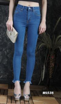 Platinum Fashion กางเกงยีนส์ขายาวเอวสูง ทรงสกินนี่ รุ่นMS538