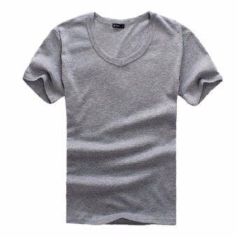 Save เสื้อยืดคอวีผู้ชายแขนสั้น (สีเทา) รุ่น 017