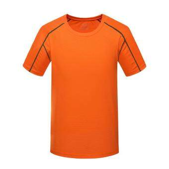 Harga Men Sport Short Sleeve T- Shirt Plus Size (XXXXL – orange)