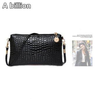 A billion กระเป๋าสะพายไหล่ กระเป๋าถือ No.0-8 ( Black )
